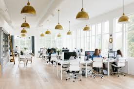 office studio design. Although The Studio Gets Plenty Of Natural Light From Our Lined Windows, We  Love Eugene Brass Pendants So Much Added Them To Office! Office Design