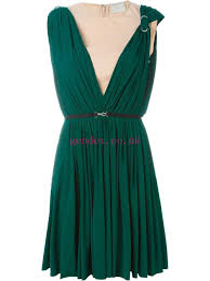 Inexpensive Lanvin Women Green Dresses Draped Dress Looperama Co Uk