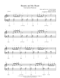 beauty and the beast sheet music beauty and the beast by howard ashman alan menken piano sheet