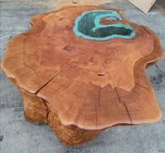 man builds lake coffee table from a 400