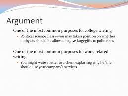 writing the argument essay argument one of the most common purposes for college writing