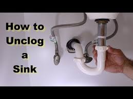 how to unclog a sink the right way