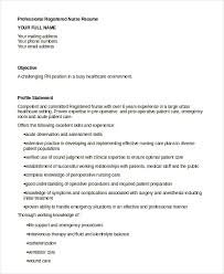 Rn Professional Resumes Registered Nurse Resume Example 7 Free Word Pdf Documents