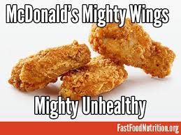 mcdonald s mighty wings nutrition facts