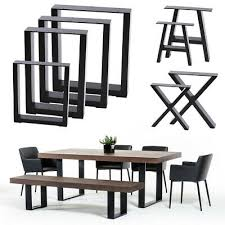 industrial steel table legs box square