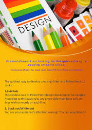 6 X 6 Rule In Powerpoint Presentation Design Presentations I Am Looking For The Quickest Way To Develop