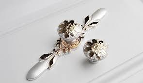 unique drawer pulls.  Drawer Unique Cabinet Pulls Dresser Drawer Pulls Handles  Wardrobe Gold  Flower Ivory White Knobs For E