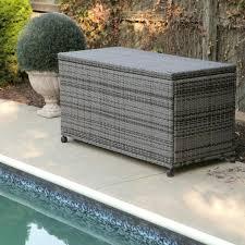 outdoor wicker storage bench outdoor black wicker patio furniture storage deck box