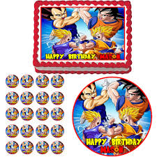 Dragon Ball Z Decorations Dragon Ball Z Edible Birthday Party Cake Cupcake Toppers Plastic 17