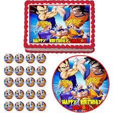 Dragon Ball Z Decorations Dragon Ball Z Edible Birthday Party Cake Cupcake Toppers Plastic 17