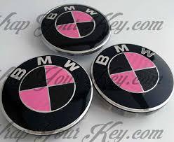 Coupe Series black and pink bmw : Black & Pink Carbon Fiber Bmw Badge Emblem Overlay Hood, pink bmw ...