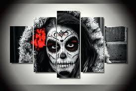 sugar skull wall art beautiful sugar skull wall decor sets home sugar skull framed art sugar