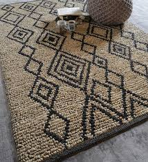 Image Modern Click To Zoom Inout Pepperfry Buy Multicolour Jute Geometric Pattern Carpet By The Rug Republic