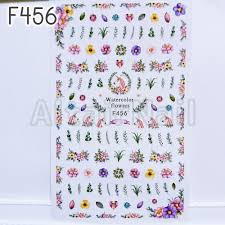 ヤフオク F456大判サイズ ネイルシール 花 フラワー ユニ