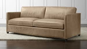 adorable camel color leather sofa with dryden leather sofa crate and barrel