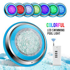 A Small Underwater Pool Light Is 1 M Toplanet Led Swimming Pool Lights 48w Underwater Led Pool Lights Rgb Waterproof Ip68 Remote Control For Spring Outdoor Swimming Pool Aquarium Lighting