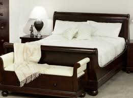 King Sleigh Bed Bedroom Sets Antoinette Mahogany Sleigh Queen Bed