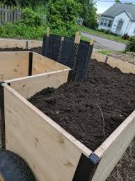 12 raised bed stakes create a deeper