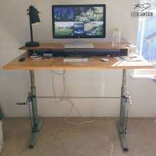 furniture diy adjule standing desk with lamp and floor mat for home office design ideas