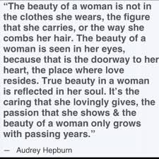 True Meaning Of Beauty Quotes Best of Although All These Things Are Nice Audry Hepburns Views On Beauty