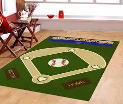 3 3 x5 baseball field ground kids play area rug anti skid rubber 3 3 x5 baseball field ground kids play area rug anti skid rubber backing 710