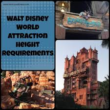Disney World Height Restrictions Chart Height Requirements At Walt Disney World Park Attractions