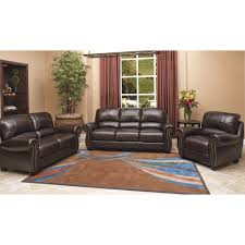 Top Grain Leather Living Room Set Abbyson Living Marcella 3 Pc Top Grain Leather Living Room Set