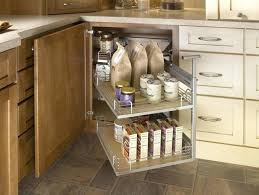 beautiful special modern folding drawers blind corner kitchen cabinet organizers stainless tray ideas cream white cabinets
