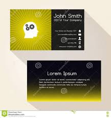 simple color gradient and stripes wheel yellow business card simple color gradient and stripes wheel yellow business card design eps10