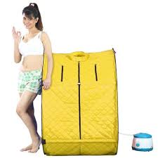 portable steam bath online. kawachi personal home therapeutic portable steam spa bath detox weight loss yellow-i03-yellow online e