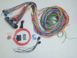 street rod wiring harness ebay Painless Wiring 21 Circuit Harness Free Shipping 12v 24 circuit 15 fuse street hot rat rod wiring harness wire kit complete EZ Wiring 21 Circuit Harness Ply