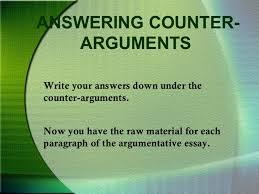 argumentative essays 9