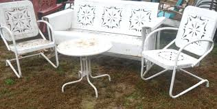 antique metal glider contact us today retro metal glider cushions