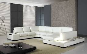 leather sectional living room furniture. Amazon.com: T35 - White Bonded Leather Sectional Sofa Set With Light: Kitchen \u0026 Dining Living Room Furniture G
