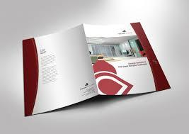 Half Fold Brochure Template For Design Company Marketing