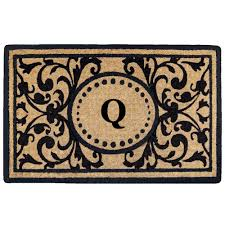 Heavy Duty Coir Monogrammed Q Door