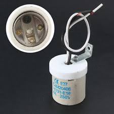 ceramic light socket e27 screw es wire ceramic light bulb holder socket heat lamp fitting cap base
