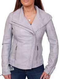 women s grey leather jacket dahlia front