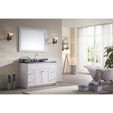 Ace 49 inch Transitional Single Sink Bathroom Vanity Set in White ...