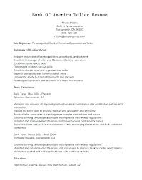 Bank Teller Experience Resume Beauteous Entry Level Bank Teller Resume Sample Resume For Bank Teller At