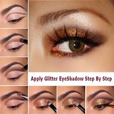 makeup tutorials with makeup step by step eyeshadow with how to apply glitter eyeshadow step by