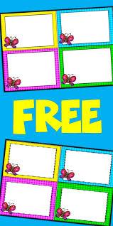 Free Editable Spring Card Templates Butterflies Classroom Task