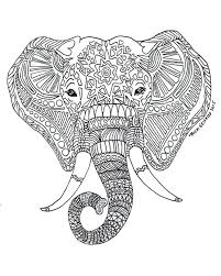 Coloring Pages Elephant Dpalaw