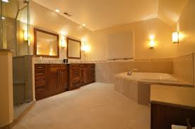 traditional master bathroom designs. a master bathroom with warm finishes for spa experience. traditional designs i