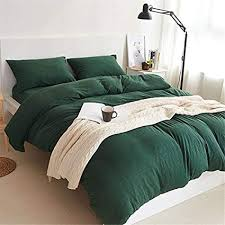green duvet cover queen. Exellent Cover YAMFEI Luxury Jersey Cotton Solid Emerald Green Duvet Cover Set Queen Size  3 Pieces Bedding Comforter And Amazoncom