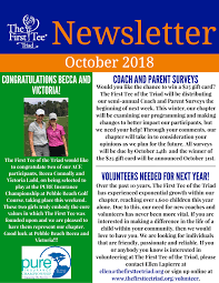 News Letters The First Tee Of The Triad Newsletters The First Tee Of