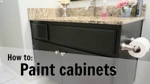 diy how to paint cabinets guest bathroom cabinet transformation