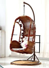 hanging wicker chair get quotations a gardens home balcony rattan swing blue basket ikea hanging wicker chair