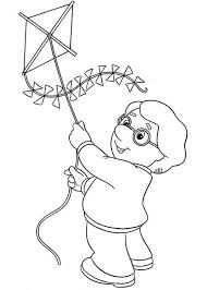 Small Picture Charlie Pringle Trying To Fly A Kite In Postman Pat Coloring Pages