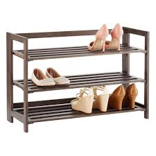 3-Tier Driftwood Folding Shoe Rack ...